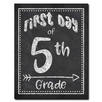 First Day of School Posters - Back to School - Preschool through 12th Grade