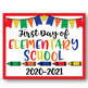 First Day of School Posters - Back to School Props -Preschool through 12th Grade