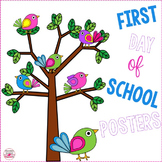 First Day of School Posters (Canadian and American Versions)