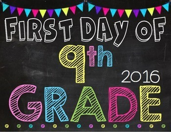First & Last Day of School Posters: Chalkboard & Brights (EDITABLE)