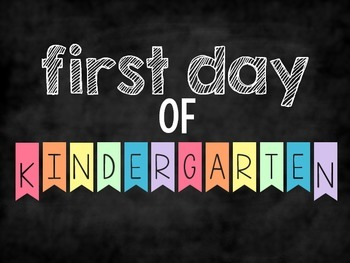 First Day of School Posters {PreK - 5th Grade} FREEBIE