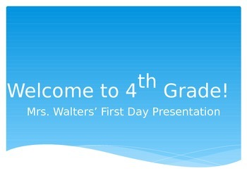 First Day of School PowerPoint