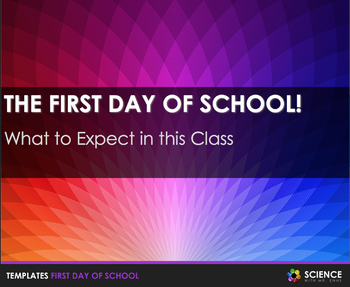 First Day of School PowerPoint (Editable)