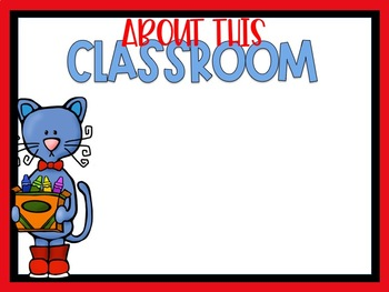 First Day of School PowerPoint Groovy Cat Themed