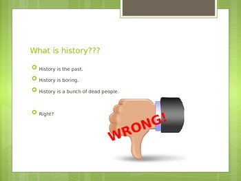 First Day of School PowerPoint - History Style!