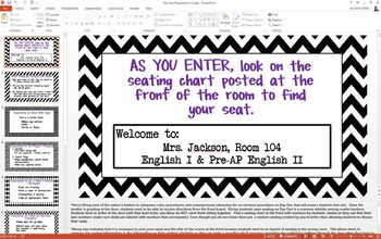 First Day of School PowerPoint Presentation (Editable); Best Practices!