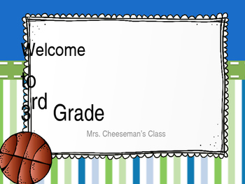 First Day of School Powerpoint: 3rd Grade!