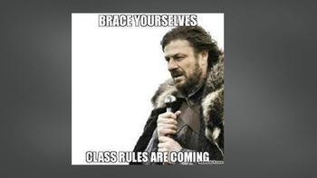 First Day of School Rules and Procedures w/ Memes
