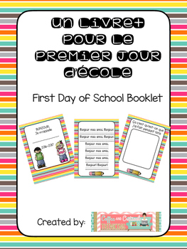First Day of School Primary French Immersion Booklet