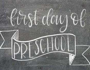 First Day of School Print
