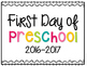 First Day of School Printable Signs {EDITABLE}