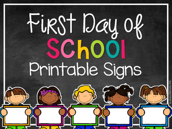 photo about First Day of School Printable called Very first Working day of College or university Printable Indications EDITABLE