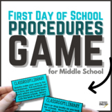First Day of School Procedures Game for Middle School