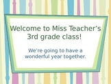 First Day of School Procedures PowerPoint Packet