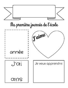First Day of School Profile en Français