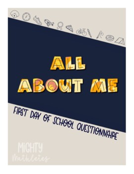First Day of School Questionnaire and Activity