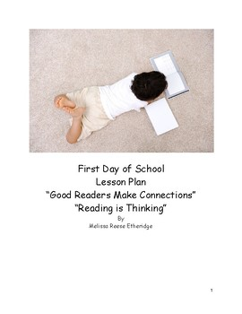 First Day of School Reading Intervention 6-8 Lesson Plan