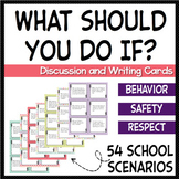 Behavior Management, School Safety, and Respect themed discussion task cards