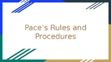 First Day of School Rules and Procedures Editable Slideshow