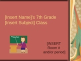 First Day of School Rules and Procedures (Middle School) EDITABLE