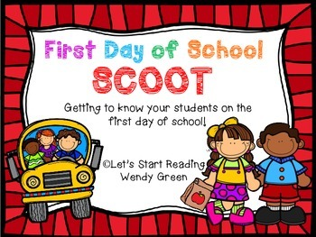 First Day of School SCOOT