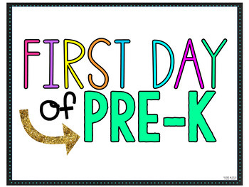 First Day of School SIGNS and Photo Booth PROPS for grades PREK-6