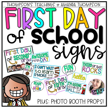 First Day of School SIGNS and Photo Booth PROPS! LOTS OF CHOICES