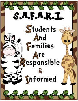 First Day of School - Safar/Jungle All About Me