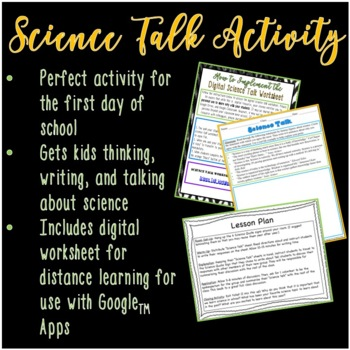 "First Day of School ""Science Talk"" Activity for Middle and High School Students"