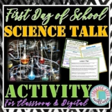 First Day of School Science Talk Activity