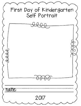First Day of School Self Portrait
