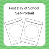 First Day of School Self-Portrait
