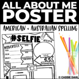 First Day of School: All About Me Poster - Back to School Activity (Selfie)