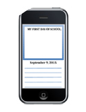 First Day of School Selfies Smart Phone Graphic Organizer