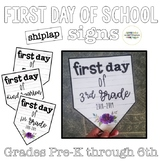 First Day of School Shiplap Signs