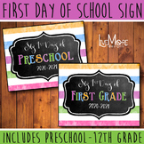 First Day of School Sign *2020-2021* Back To School INCLUD
