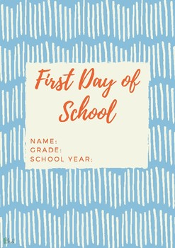 First Day of School Sign | All About Me Printable Questionnaire