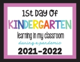 First Day of School Sign | Back to School | In Person Lear