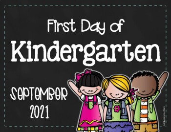 First/Last Day of Kindergarten Sign - FREE
