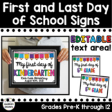First Day of School Sign & Last Day of School Sign - EDITA