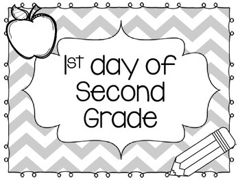 First Day of School Sign for Grades K-5