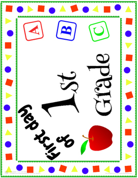 First Day of School Sign from Pre-K-5
