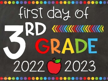 It is a graphic of Zany First Day of 3rd Grade Printable