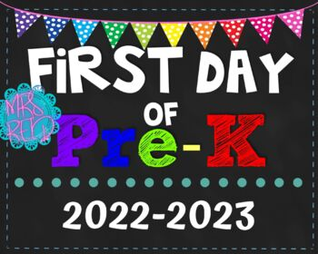 First Day of School Signs 2017-2018 Pack (K-5)