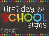 Editable First Day of School Signs Bundle