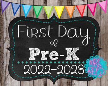 First Day of School Signs 2017-2018 Pack (K-5) Wood