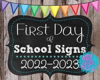 First Day of School Signs 2018-2019 Pack (PreK-5) Wood