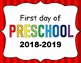 First Day of School Signs 2018-2019