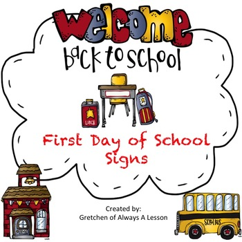 First Day of School Photo: Grade Level Signs