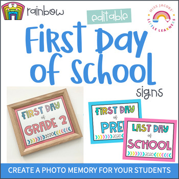 First Day of School Signs - 2019 by Miss Jacobs\' Little Learners